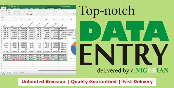 1hour of Data Entry, Data Conversion and Excel Data Entry