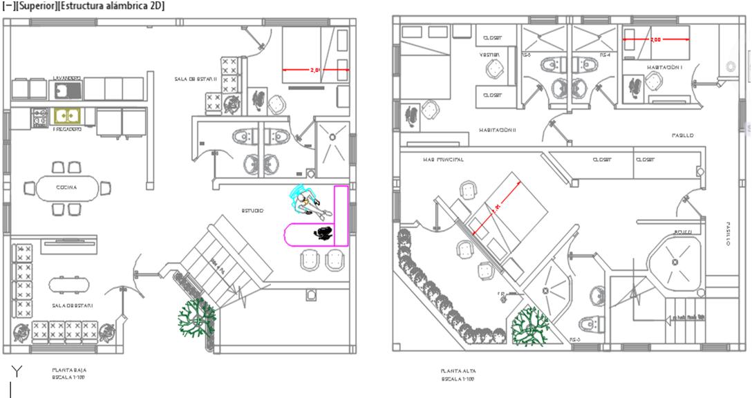 architectural plans autocad 2d / 3d