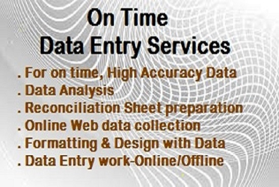 I want to do any type of Data Entry,  Data Analysis,  Web Mining,  Copy Paste Works for 4 hours.