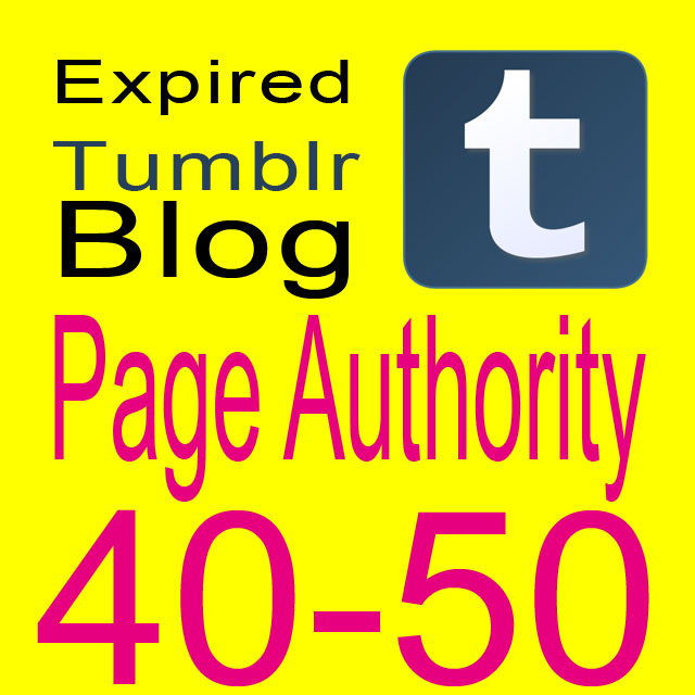Get 7 Expired Tumblr Registered PA 40-50