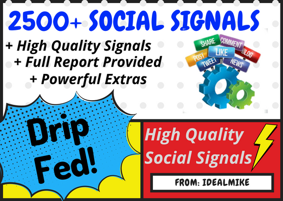 2500+ Super SEO Social Signals Bookmarks Backlinks Powerful Ranking Factors