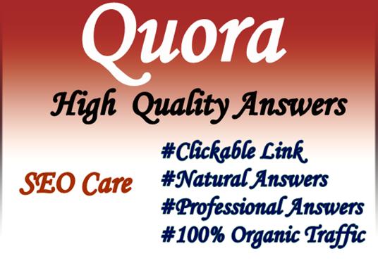 Provide 20 high quality quora backlinks