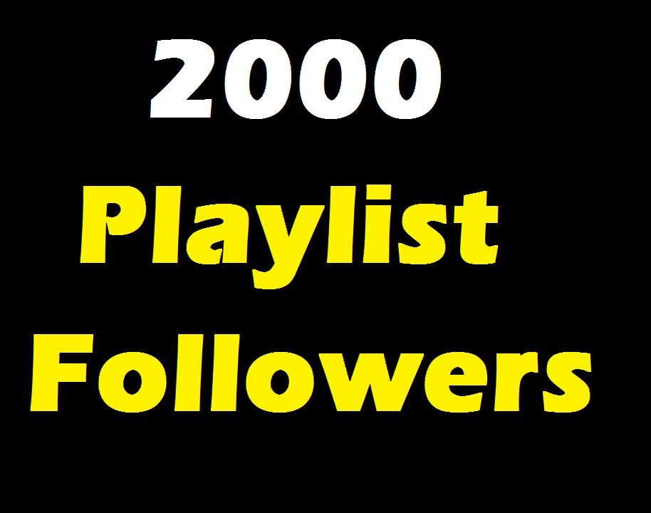 2000 Playlist Music Artist followers CheapFollowers service