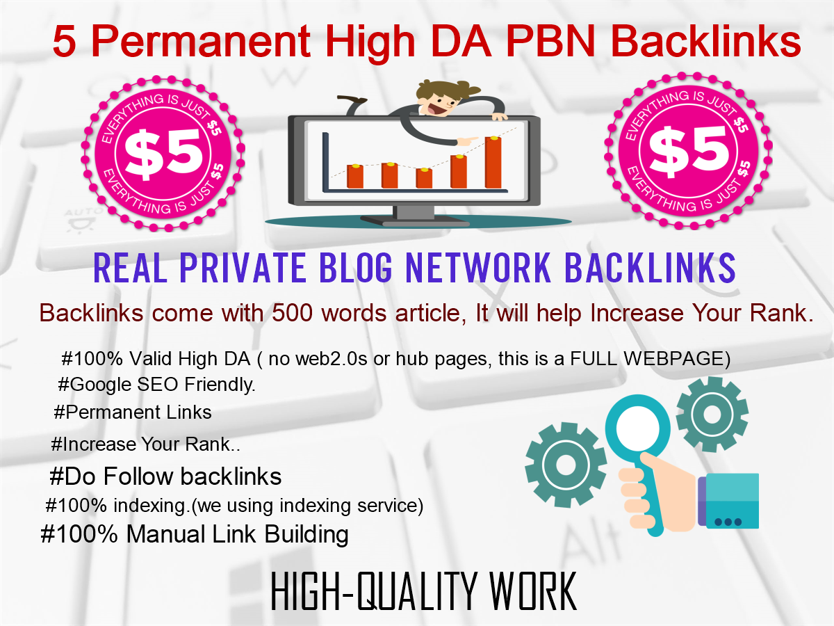 Create 5 PBN Backlinks On Our Own Self Hosted Blogs with Article