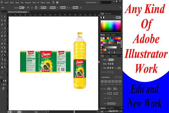 I will print design adobe illustrator work