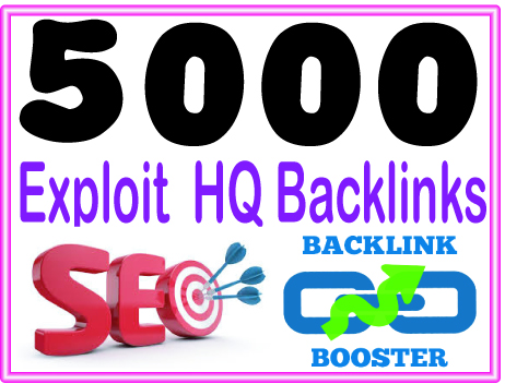 Submit 5000 Exploit backlinks - High PR Most Effective Backlinks