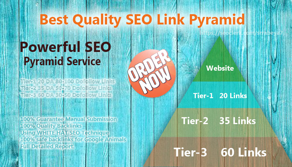 Best Quality SEO Link Pyramid to help skyrocket your website on Google rankings
