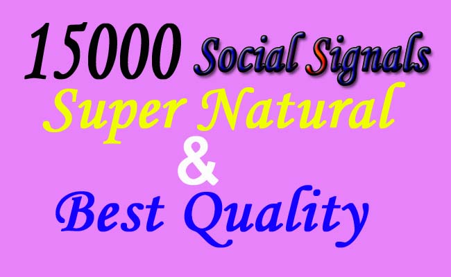 High Quality of 15000 drip feed SEO social signals