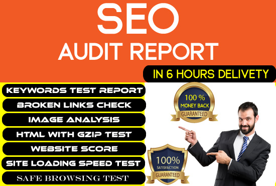 provide an advanced level Seo audit report for your website