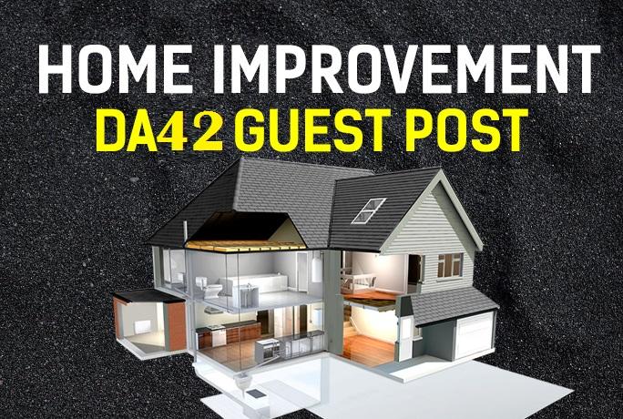 Dofollow Home Improvement niche DA42 Niche site blog