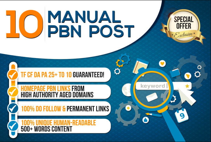 Permanent PBN High Metrics Contextual Backlinks