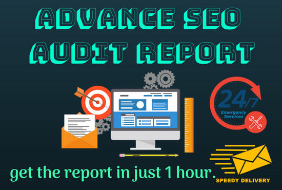 Provide You Advance SEO Audit Report Within 1 Hour