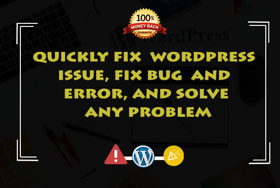 I'll fix any kind of WordPress issues and errors