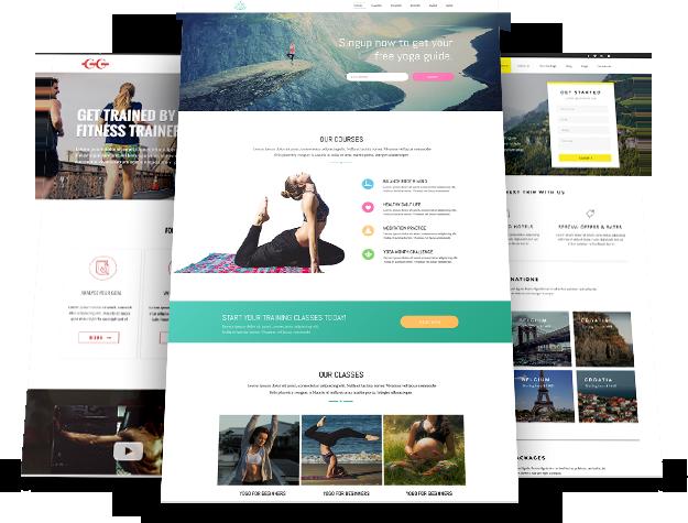 Your desired website in wordpress