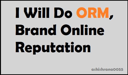 Do Orm,  Brand Online Reputation