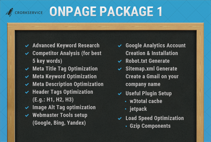 Custom offer for my client LoveWholly- OnPage Optimization Package 1