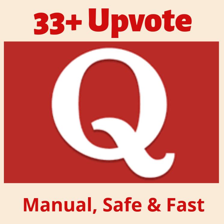 Get 33 High Quality Quora UPVOTE