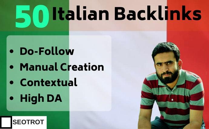 50 High Quality Italian Backlinks It Domain Contextual