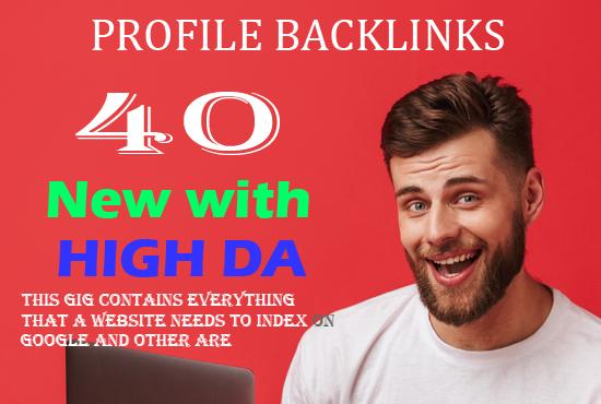 40 Profile Backlinks