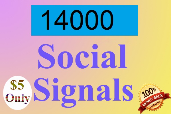 14000 drip feed Website Mixed social signals in 15 days for
