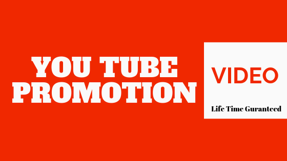 Life time Guaranteed you tube video promotion