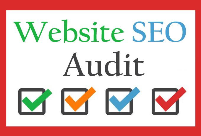 Do Complete Website SEO Audit for Website