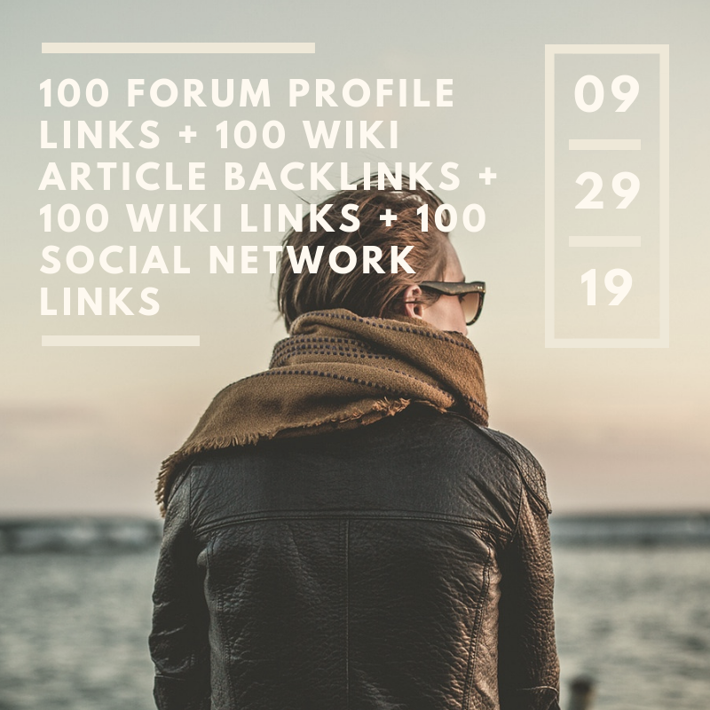 100 Forum Profile links + 100 wiki article backlinks + 100 wiki links + 100 social network links