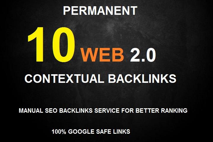 Create 10 High Da Contextual Backlinks, Web 2 0 Seo Service