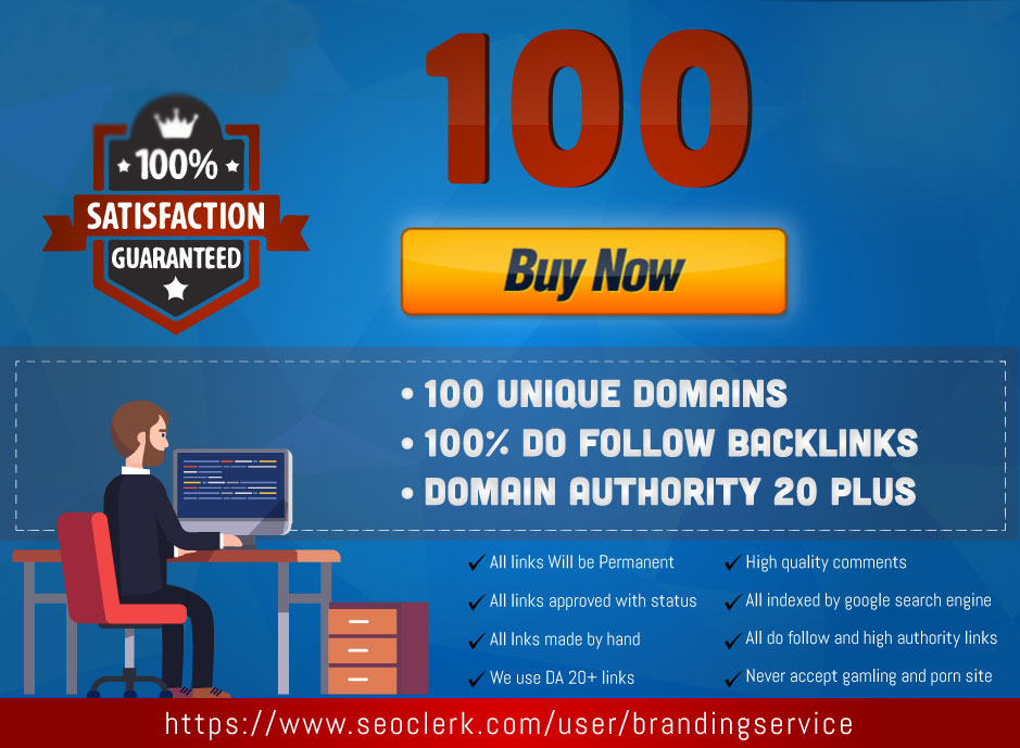 create 100 unique domains do follow backlinks