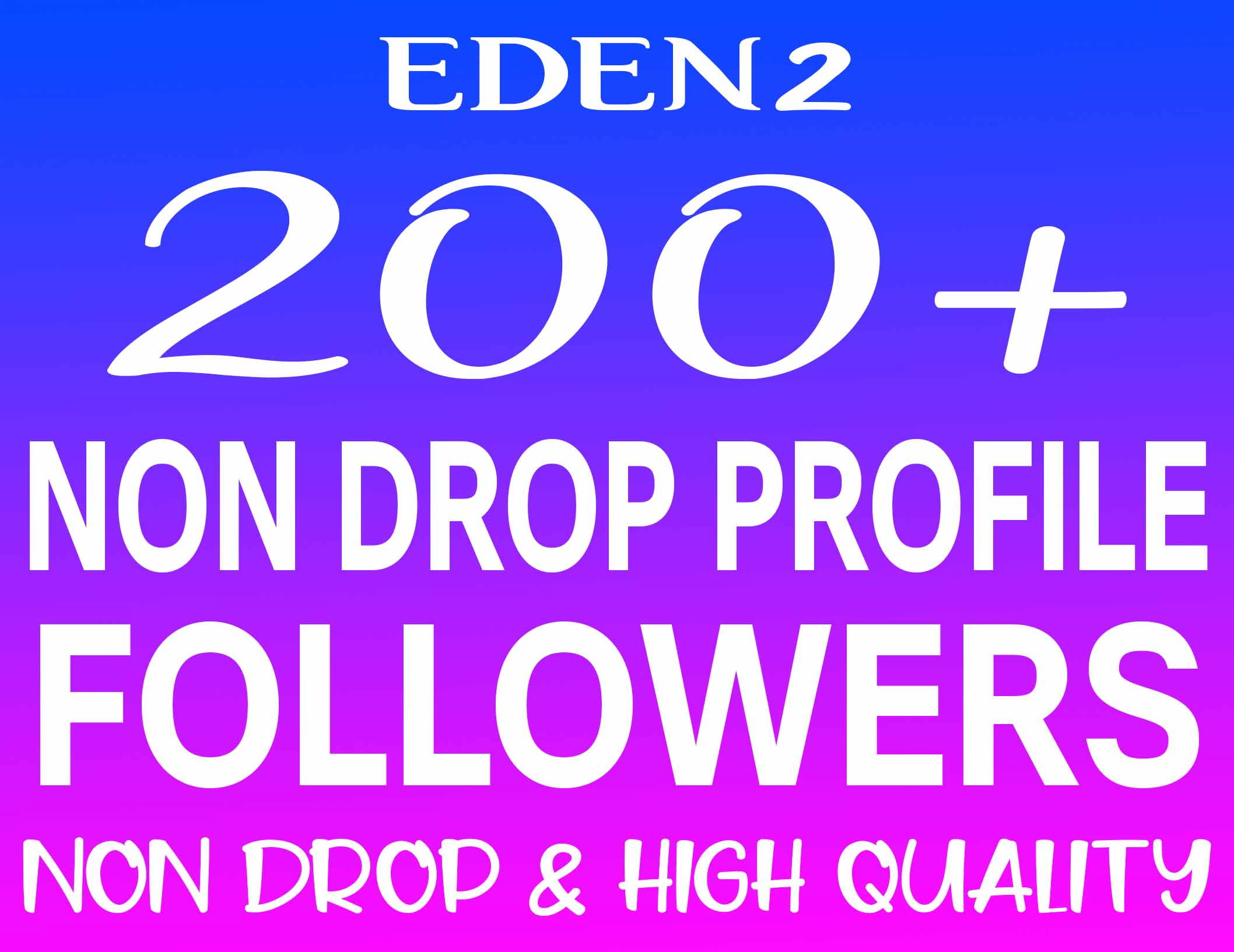 ADD 200+ PROFILE FOLLOWERS REAL HIGH QUALITY & NON DROP - INSTANT START