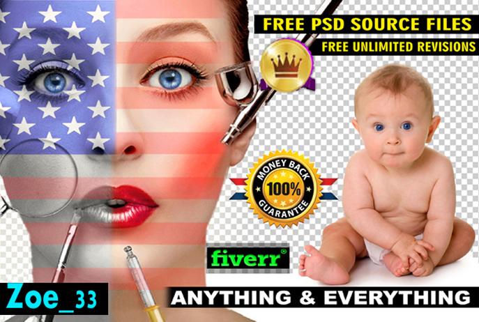 do photoshop editing, photo editing and retouching