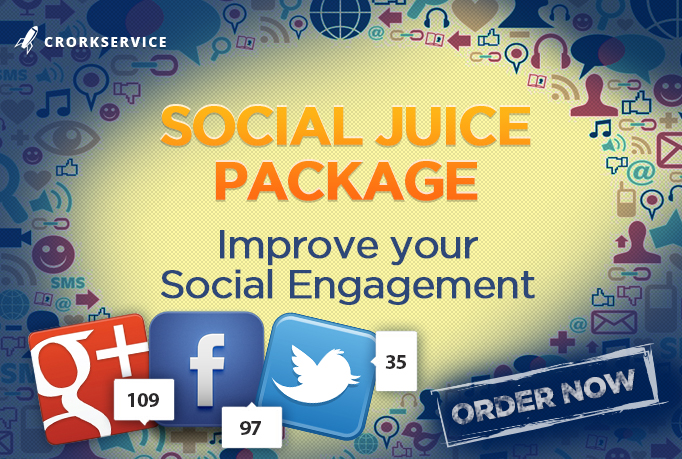 Social Juice Package - get diversity social backlinks with comments