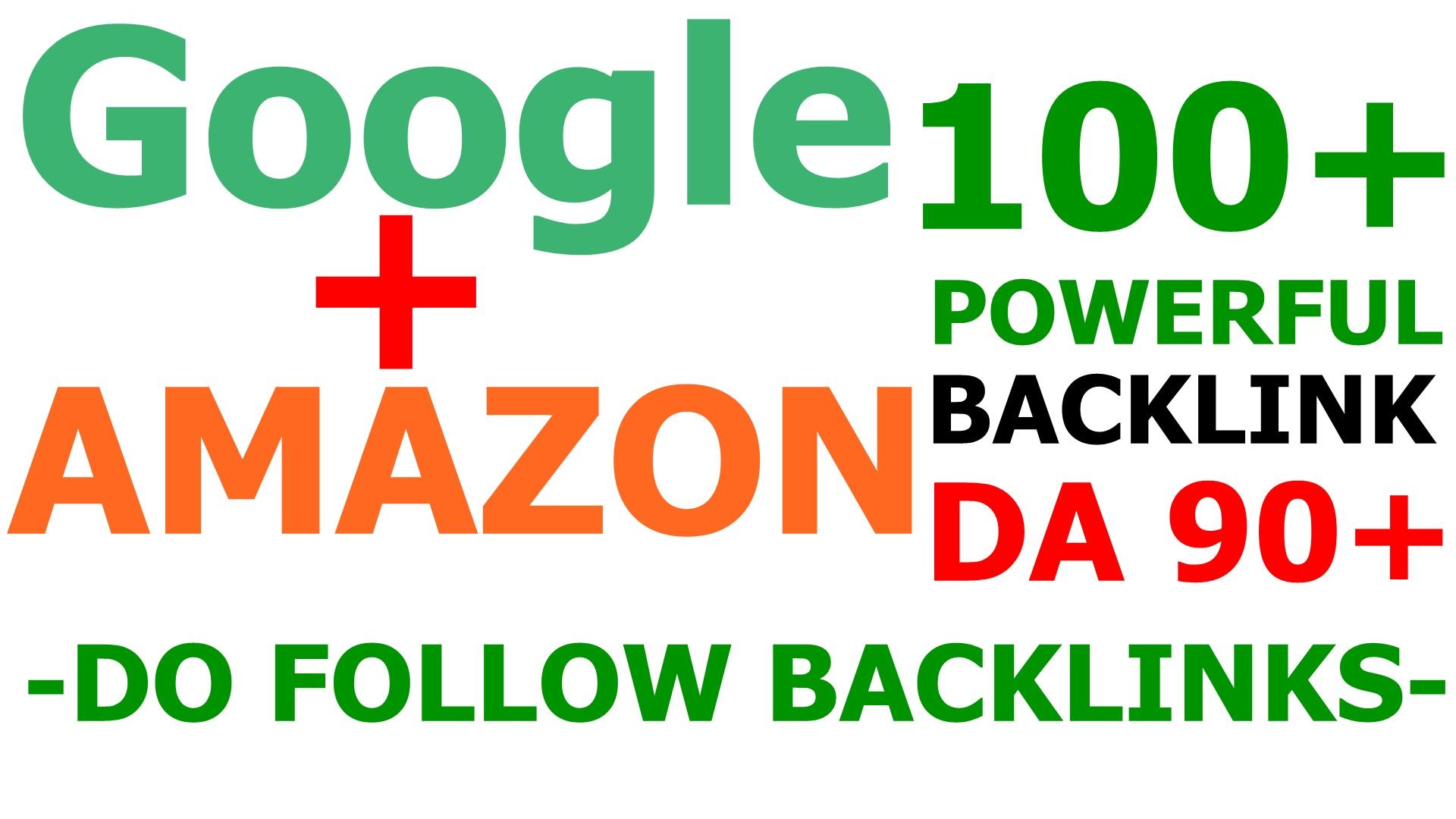 Google And Amazon 100 Premium Dofollow SEO Powerful Backlinks