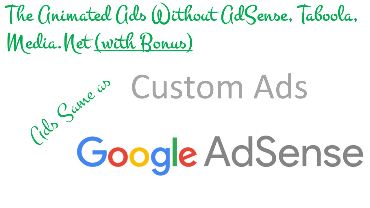 Create Clickable and Animated Banner Ads for You Same as Google AdSense