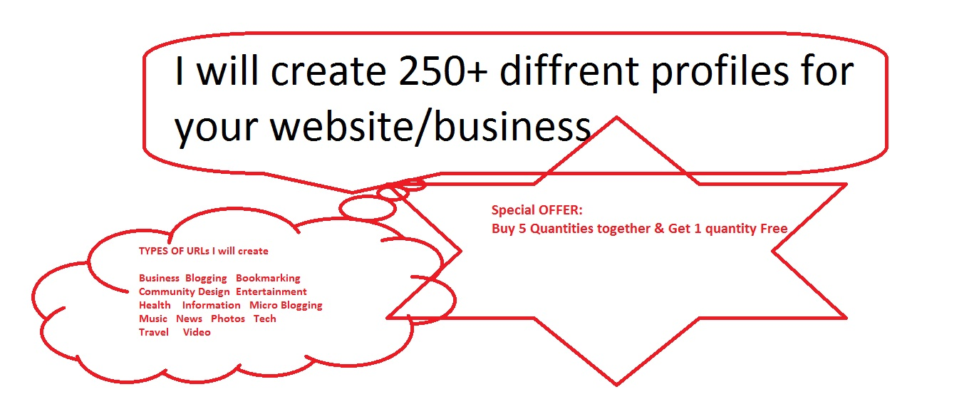 Build 200+ Profiles Link For Your Website