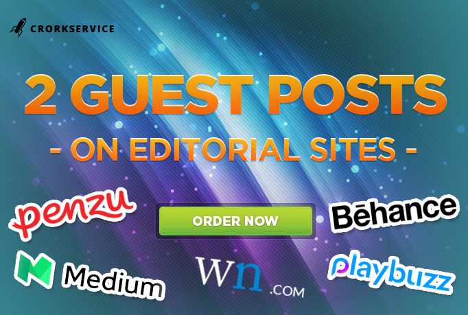 2 Guest Posts On Editorial Sites