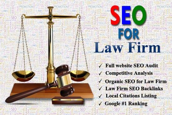 Create High Quality 60 Law Firm SEO Backlinks