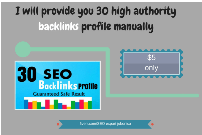 Buld 30 high authority backlinks manually to promote your website