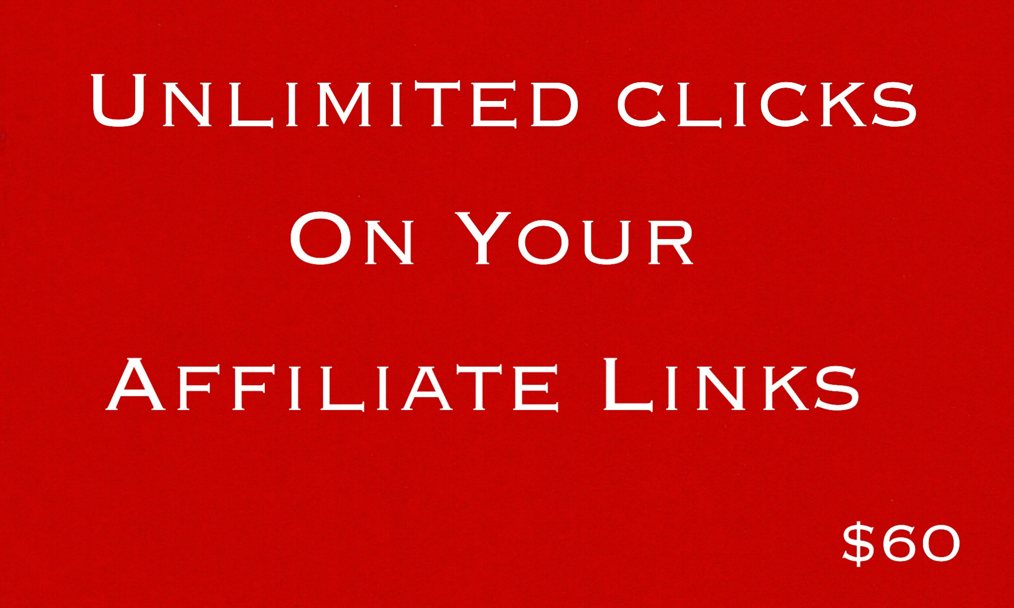 Get Unlimited Clicks On Affiliate Links