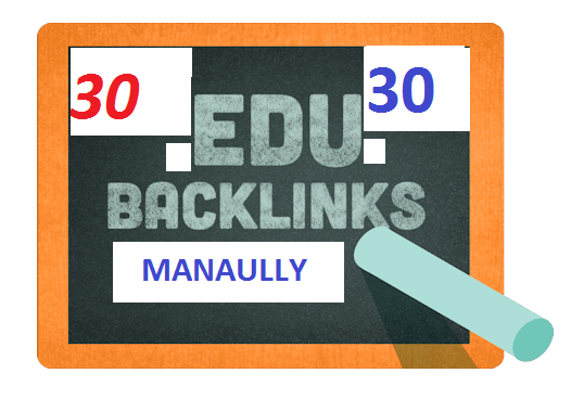 I give you 30 EDU backlings for your website manaually
