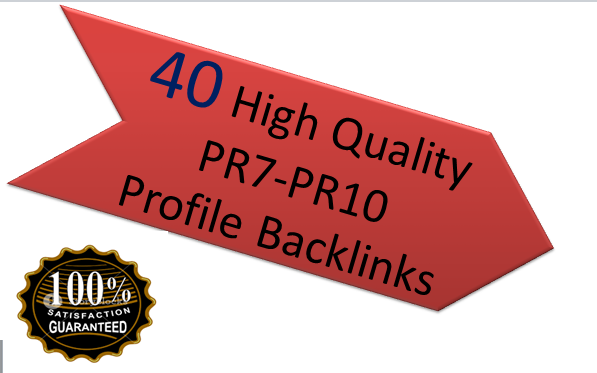 I give you 40  High Quality PR7-PR10  Profile Back-links