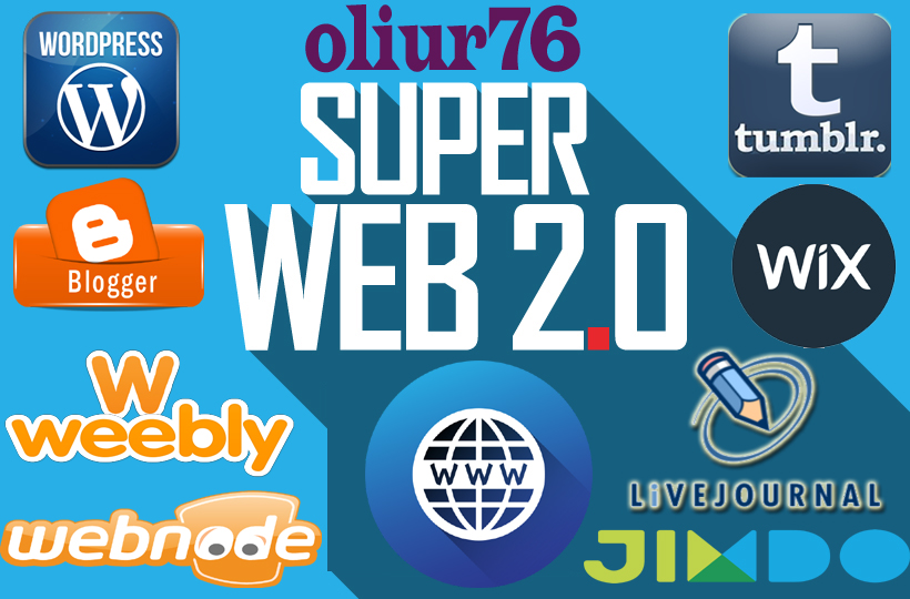 Manually create 25 super web 2.0 blog with powerful contextual backlinks and login