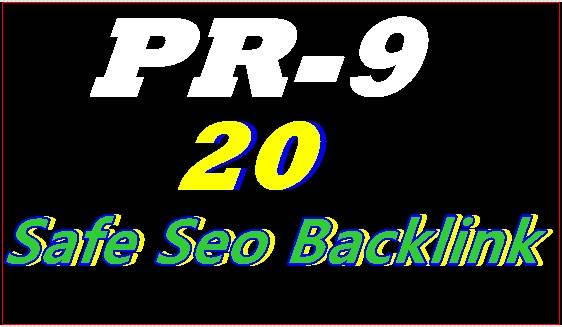 Manually Create DA 80+ High PR9 20 Safe Seo Backlink