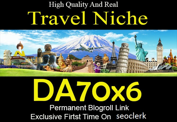 Guest Post On Travel Niche Travelblog. org DA76 Dofollow Backlink