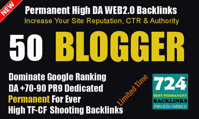 Provide 50 Blogger Niche Relevant Posting empowered By 2500 Authority Tier 2 Backlinks