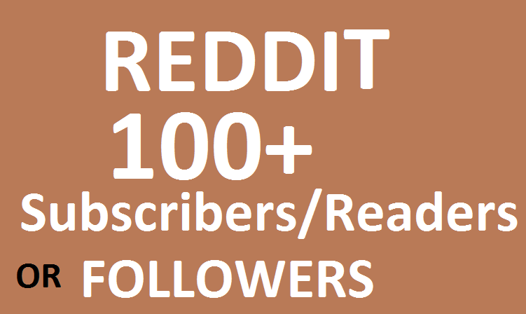 Get HQ 100+ Reddit Subreddit Readers