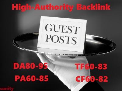 Write & Post On DA80-95, PA60-85, TF60-83 & CF60-82 High Authority Site