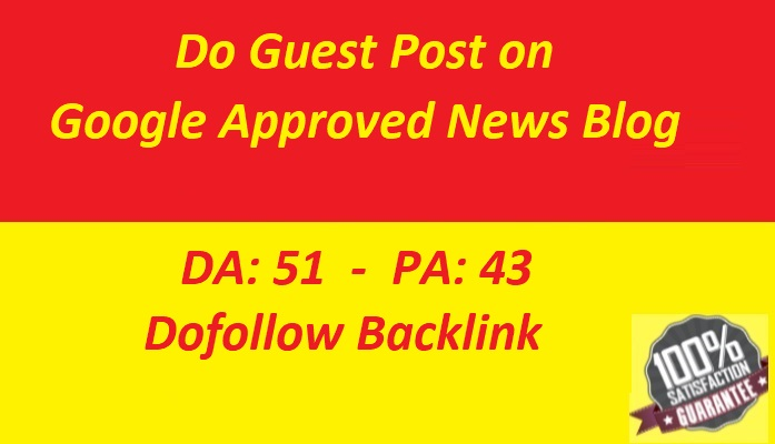 Do guest post on google approved news blog