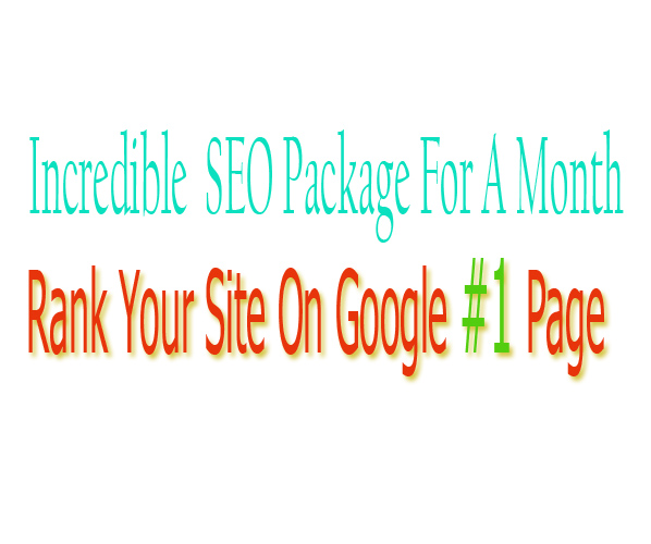 Incredible SEO Package For a 1 Month & Rank Your Site On Google First Page