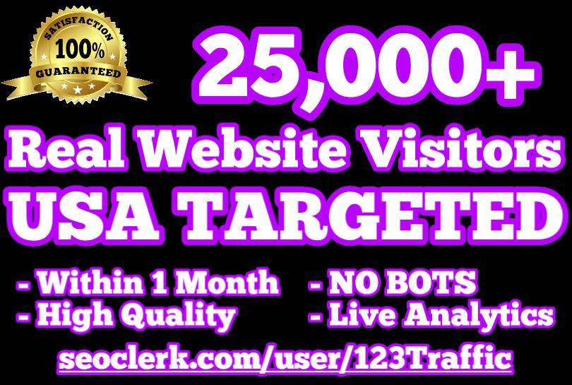 25,000 USA TARGETED Website Traffic